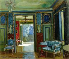 Early 20th-Century Russian Interiors by Stanislav Yulianovich Zhukovsky (b. 1875).  Zhukovsky died in Prushkov concentration camp, near Warsaw in 1944.