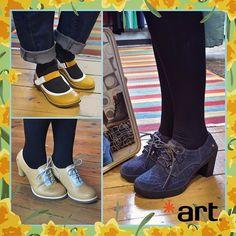 Påskeglæden er landet i butikken, for vi har fået det skønneste udvalg af lækre sko fra Art Company. ❤️👠Kom ned i butikken eller følg linket i Bio, for at se om du kan finde dine nye sko til påskefrokosten. 💐 #Mustus #artcompany #Spansk #design #glæde #påske #forår #inspiration #sko #højthumør #smil #vintage #butik #Svendborg