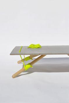 Salontafel met neon touw