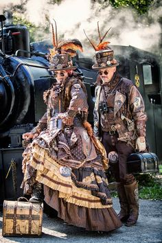 Safari Steampunk Anyone? Steampunk is a rapidly growing subculture of science fiction and fashion. Steampunk Rock, Steampunk Shop, Arte Steampunk, Steampunk Accessoires, Style Steampunk, Steampunk Couture, Steampunk Halloween, Steampunk Cosplay, Steampunk Design
