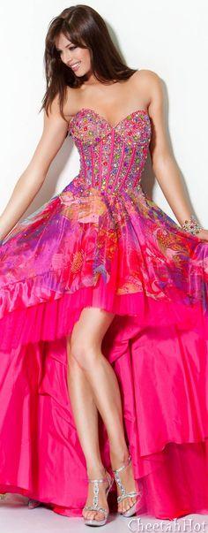 JOVANI - Authentic Designer Dress - Dazzeling Colors.