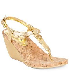 a4be1d4095bf Lauren Ralph Lauren Reeta Wedge Thong Sandals   Reviews - Sandals   Flip  Flops - Shoes - Macy s