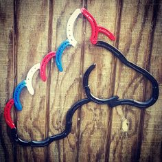 Check out this item in my Etsy shop https://www.etsy.com/listing/294078637/patriotic-horseshoe-horse-red-white-and