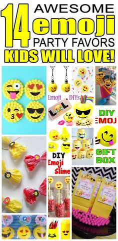 14 Emoji Party Favor Ideas For Kids Fun And Easy Birthday