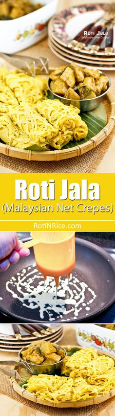 These tender and delicate Roti Jala (Malaysian Net Crepes) are a must try with chicken or beef curry. Easy to prepare using only a few ingredients. | RotiNRice.com