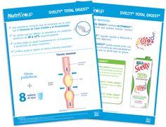 Diseño publicitario/editorial - Stop Diseño Gráfico - Diseño de Hoja de datos Svelty Total Digest - Nutrigroup - Nestlé.