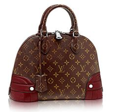 Louis Vuitton borsa monogramma angoli rossi