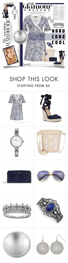 """""""OSLO NORWAY : Wrap Dress Trends"""" by polyvore-suzyq ❤ liked on Polyvore featuring BCBGMAXAZRIA, Nine West, Brighton, Angel by L. Martino, Aspinal of London, 1928, Michael Aram and Mudd"""