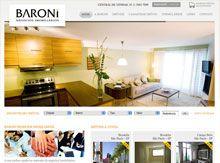 Layout de Site Criado para a Baroni Imóveis #criative #sites #criacaodesites #imoveis #agencia www.visiondesign.com.br