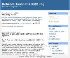 Rebecca Tushnets 43(B)log - Click to visit blog:  http://1.33x.us/Ix6ieV
