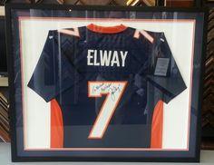 Custom framed John Elway jersey by FastFrame of LoDo