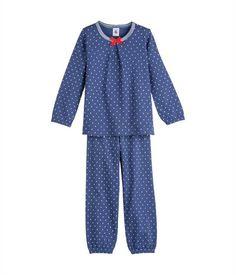 Pyjama fille en coton gratté à pois 35€