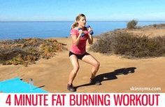 This 4 Minute Fat Burning Workout will help you burn fat up to 24 hours after you're done with the workout!