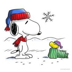 Brand new Winter Snoopy & Woodstock (Peanuts) Snoopy Love, Snoopy Feliz, Snoopy E Woodstock, Peanuts Christmas, Charlie Brown Christmas, Charlie Brown And Snoopy, Christmas Art, Snoopy Images, Snoopy Pictures