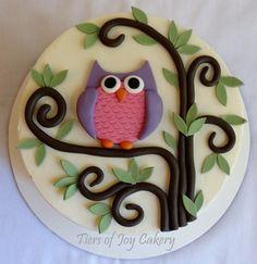 Celebration Cakes - Tiers of Joy Cakery Owl Cake Birthday, Birthday Cakes For Women, Fondant Animals Tutorial, Sugar Dough, Owl Cakes, Cake Board, Elegant Cakes, Cake Decorating Tips, Celebration Cakes