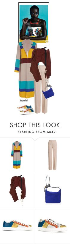 """Wambli Duster"" by wambliwakan ❤ liked on Polyvore featuring Emilio Pucci, Marni, Lanvin, Geoffrey B. Small and DusterCoats"