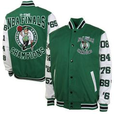 Boston Celtics 17X NBA Finals Champs High Point Commemorative Full Button  Jacket - Kelly Green White 3d10bd845