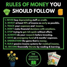 The rules of Financial Success Whats your opinion? Are you going to - Ecommerce - Start your online business with 14 days free trial - - The rules of Financial Success Whats your opinion? Are you going to implement any of these rules into your strategy? Financial Quotes, Financial Success, Financial Literacy, Financial Ratio, Budget Planer, Business Money, Business Ideas, Startup, Millionaire Lifestyle