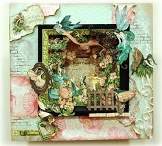 fairy shadow box-do this with a pic, can change theme-season, occasion, anything! so cool!