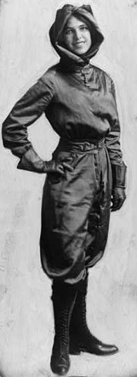1st woman pilot in the US:  1911.  1st woman to fly across the English Channel.