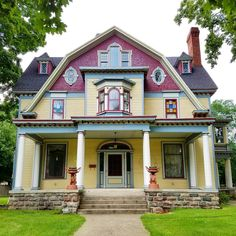 Happy Easter! This is a gorgeous, colorful Victorian home. Coldwater, Michigan