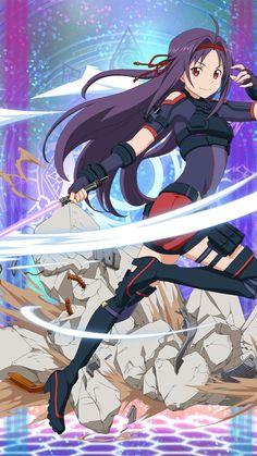 Yuuki Sword Art Online, Arte Online, Online Art, Otaku Anime, Hatsune Miku, Online Anime, Illustrations, Animation Film, Magical Girl