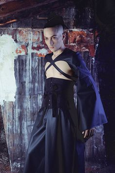 Kimono hakama and men corset in black PVC by AtelierSylphecorsets, $587.00