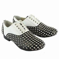 timeless design 8d46d 589a6 Christian Louboutin Freddy Studded Lace-Up Sneakers Men Black White. Svarta  SneakersOxfordskorHerrskorSneakers ...