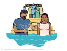 3000 baptised! Pentecost | Lamp Bible Pictures