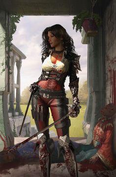 Women of Fantasy Fantasy Girl, Fantasy Warrior, Fantasy Rpg, Fantasy Women, Medieval Fantasy, Fantasy Artwork, Dnd Characters, Fantasy Characters, Female Characters