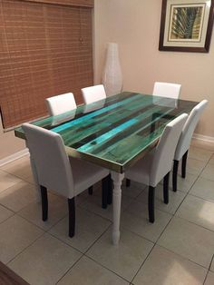 reclaimed wood & epoxy table on pinterest - sibus furniture