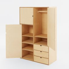 Kubbik Wardrobe from Fam Fara is a beautiful, modern and functional children's wardrobe, complete with drawers, shelves and a hanging rail.