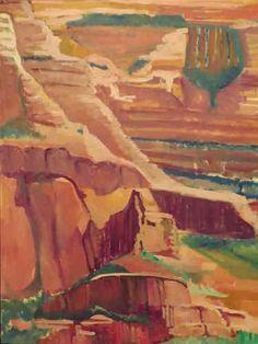 "Sedona Abstract, 30X40"", Oil on Canvas"