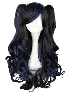 Long Curly Multi Color Rayon Lolita Wig