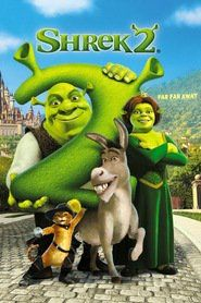 Shrek (Mike Myers) has rescued Princess Fiona (Cameron Diaz), got married, and now is time to meet the parents. Shrek, Fiona, and Donkey (Eddie Murphy Fiona Y Shrek, Shrek 2, Shrek Funny, Shrek Donkey, Disney Cartoons, Disney Movies, Disney Pixar, Punk Disney, Disney Facts