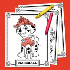 Free Printable PAW Patrol Coloring Pages are fun for kids of all ages! You'll go crazy for these printable PAW Patrol coloring sheets! Paw Patrol Toys, Paw Patrol Party, Paw Patrol Birthday, Paw Patrol Coloring Pages, Truck Coloring Pages, Coloring Sheets, Coloring Books, Birthday Party Games, 3rd Birthday