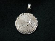 Show your love  Great State of Texas Quarter Pendant by BulletsAntlersEtc on Etsy, $15.00