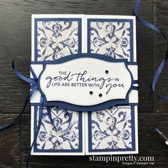 Create this card using the In Good Taste Suite, Tasteful Touches Bundle by Stampin\' Up! Card my Mary Fish, Stampin\' Pretty Fancy Fold Cards, Folded Cards, Card Making Inspiration, Making Ideas, 123 Cards, Paper Bag Puppets, Preschool Christmas Crafts, Mary Fish, Stampin Pretty