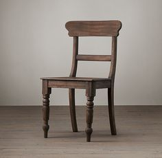 """19Th C. English Schoolhouse Side Chair Overall: 19""""W x 20""""D x 35""""H Seat: 19""""H"""
