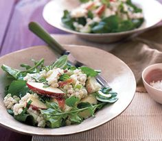 Creamy Barley Salad With Apples