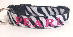 Personalized  Black and White Zebra Dog by TheMonogrammedMutt, $28.00