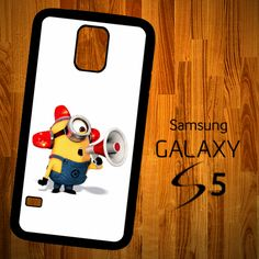 B1339 Minions Fireman Fighter Samsung Galaxy S5 Case | statusisasi - Accessories on ArtFire Samsung S5 Phone Case, Samsung Galaxy 5, Galaxy Phone, Call Me Maybe, Just Do It, Minions Love, Minion Party, Cute Phone Cases, Ipad Mini