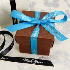 """Thank You"" Favor Ribbon - 3/8"" ribbon 18 yards per roll, $23.27, have Lavender"