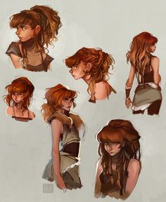 Here's some of the concept art I created of Horizon: Zero Dawn's lead character, Aloy! I worked on this character together with the rest of their talented and inspiring character team at Guerrilla. Female Character Design, Character Aesthetic, Character Concept, Character Art, Concept Art, Dnd Characters, Fantasy Characters, Female Characters, Loish