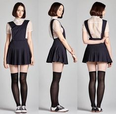 """( """"The Navy Pleated Pinafore and Peter Pan Organza Blouse. Body Reference Poses, Pose Reference Photo, Fashion Souls, Preteen Fashion, People Poses, Modelos Fashion, Cool Poses, Figure Poses, Character Poses"""