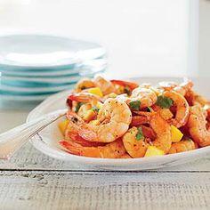 Cumin-spiced Shrimp with Mango and Cilantro Recipe | MyRecipes.com