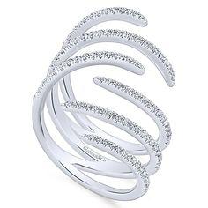14k White Gold Kaslique Statement Ladies' Ring angle 3