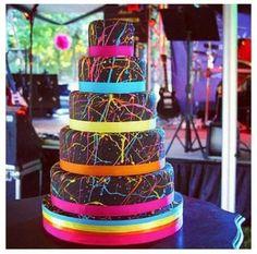 Neon Cake ... white instead  #elfBrightNow