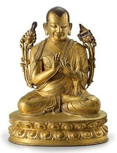 """Tsongkhapa, also known as Je Rinpoche, was born in the Amdo region of Tibet in 1357. He was a highly respected Buddhist scholar and is credited as being the founder of the Gelug Buddhist sect, known as the """"Yellow Hat"""" sect, one of the most powerful and widespread in the Buddhist religion."""