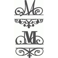 Silhouette Design Store - Search Designs : monogram